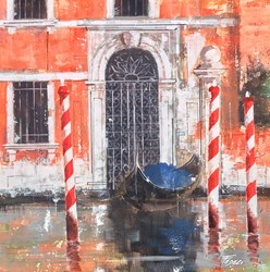Facciata A Venezia by Paolo Fedeli - Original Painting on Box Canvas sized 16x16 inches. Available from Whitewall Galleries